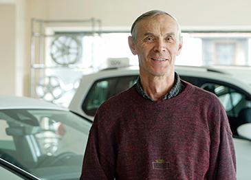 Reinhold Zethner, Mitarbeiter Autohaus Leikeim